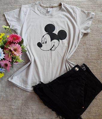 Tee Feminina Para Revenda Mickey Rosto Grande