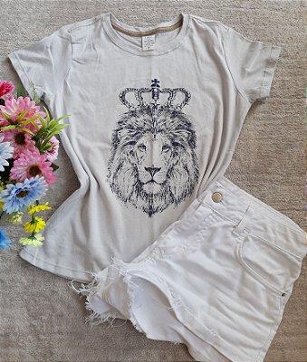 Tee Feminina Para Revenda Leão Coroa