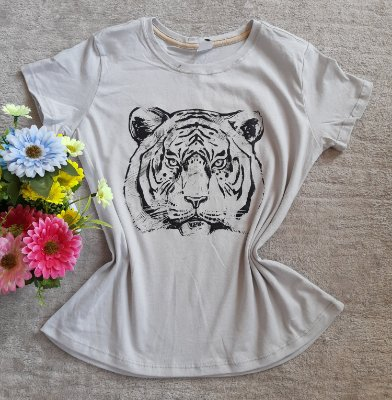 Blusinha Feminina Para Revenda Tigre Rosto