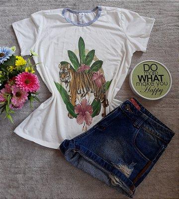 T-Shirt Feminina no Atacado Tigre