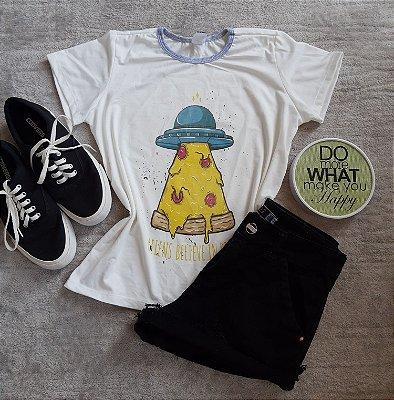 T Shirt Feminina no Atacado Nave Pizza