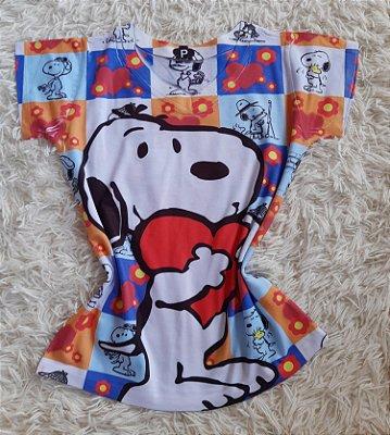 Blusa Feminina no Atacado Snoopy Grande Coração