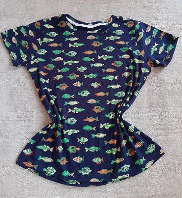 T Shirt Feminina no Atacado Peixes