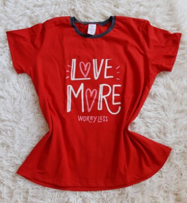 TShirt Feminina Para Revenda Love More