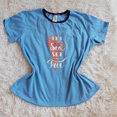 T-Shirt  Feminina Para Revenda Concha