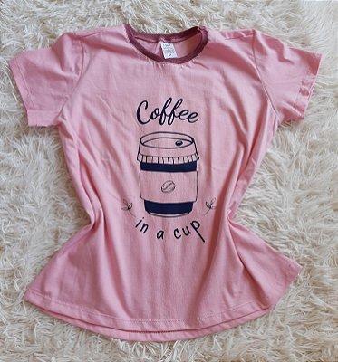 T-Shirt Feminina Para Revenda Coffee