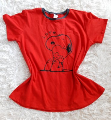 Tshirt Feminina no Atacado Snoopy