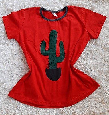 Tshirt Feminina no Atacado Cacto