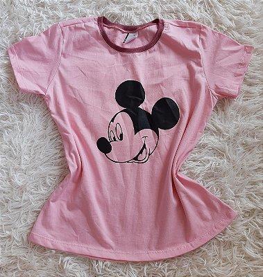 T-shirt Feminina no Atacado  Mickey Rosto