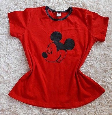 Tshirt Feminina no Atacado Mickey Rosto