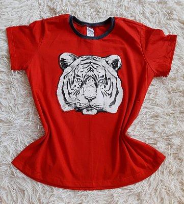 T-Shirt Feminina No Atacado Tigre Rosto