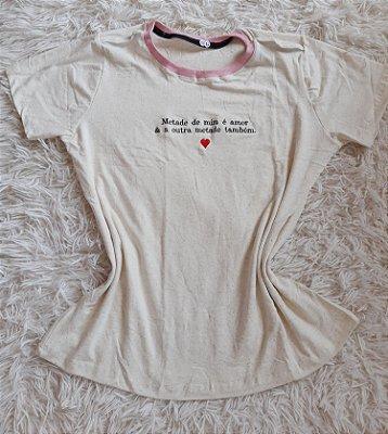 T-Shirt Feminina No Atacado Metade de Mim
