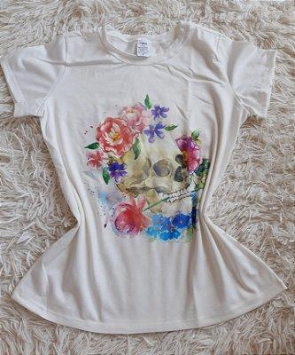 Blusa Feminina Para Revenda Caveira Flores