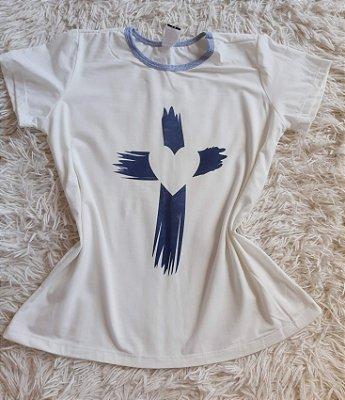Blusa Feminina Para Revenda Cruz Coração