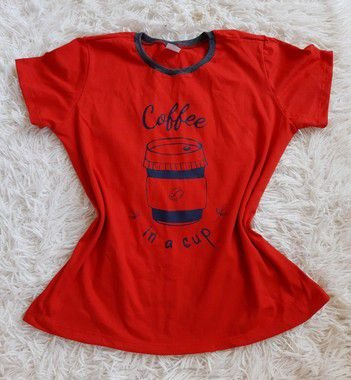T shirt Feminina no Atacado Coffee