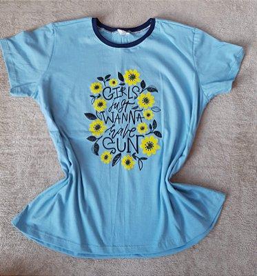 T-Shirt Feminina no Atacado Girls Fun