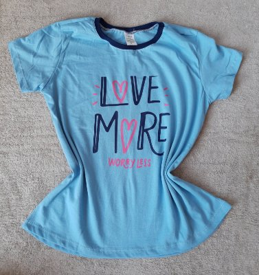 T Shirt Feminina no Atacado Love More