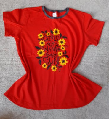 T Shirt Feminina no Atacado Girls Fun
