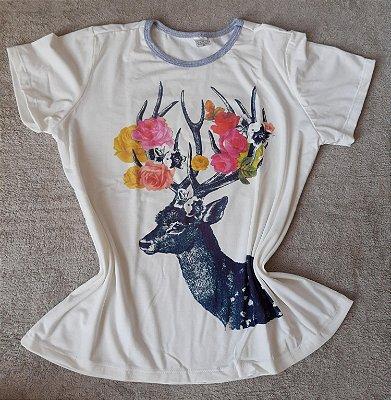 T-Shirt Feminina no Atacado Cervo