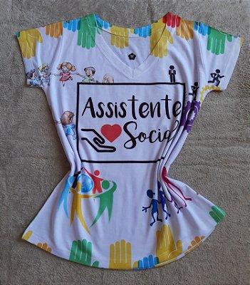 T-Shirt Feminina no Atacado Assistente Social