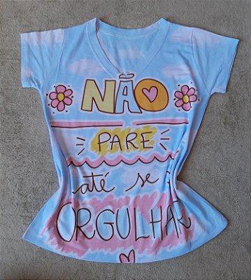 T-Shirt Feminina no Atacado Não Pare