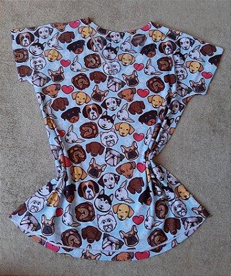 T-Shirt Feminina no Atacado Dogs Rostos
