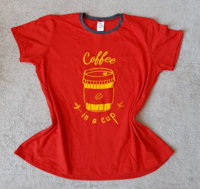 T-Shirt Feminina no Atacado Coffee