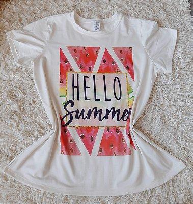 Tee Feminina no Atacado Hello Summer