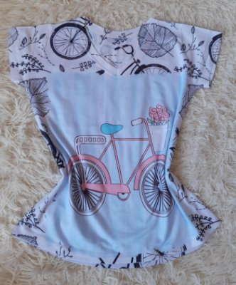 Tshirt Feminina no Atacado Bike Rosa