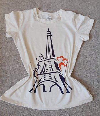 T-Shirt Feminina no Atacado Paris Torre