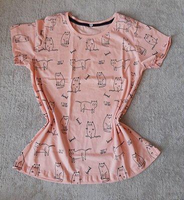 T-Shirt Feminina Para Revenda Cats