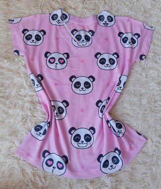 T-Shirt Feminina no Atacado Pandas Fofos