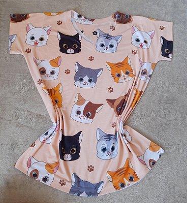 T-Shirt  no Atacado Cats Coloridos