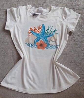 T-Shirt Feminina Para Revenda Estrela do Mar