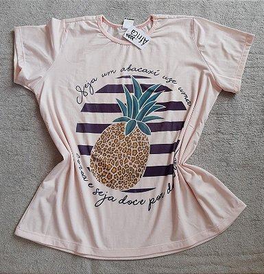T-Shirt Feminina Para Revenda Abacaxi