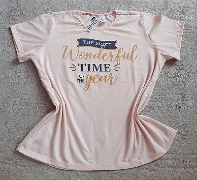 T-Shirt Feminina Para Revenda Wonderful Time