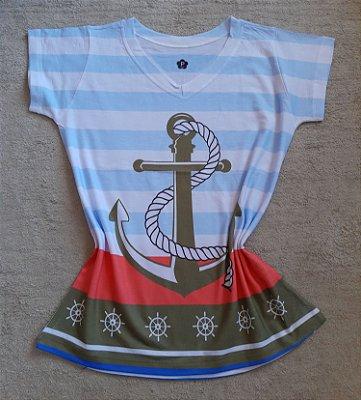 T-Shirt Feminina no Atacado Âncora Grande