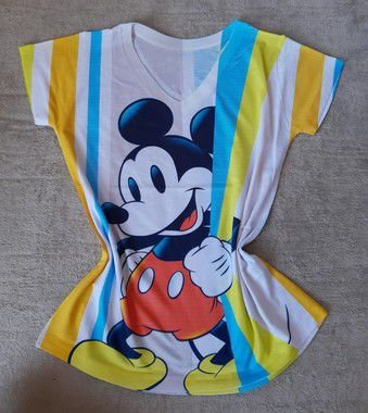 Blusinha Feminina no Atacado Mickey Listras