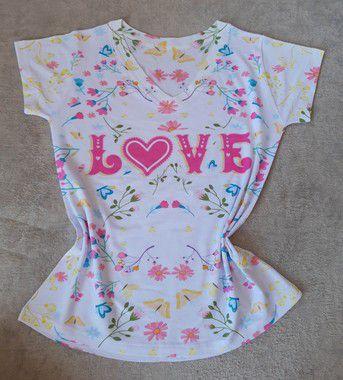 Blusa Feminina no Atacado Love Flores