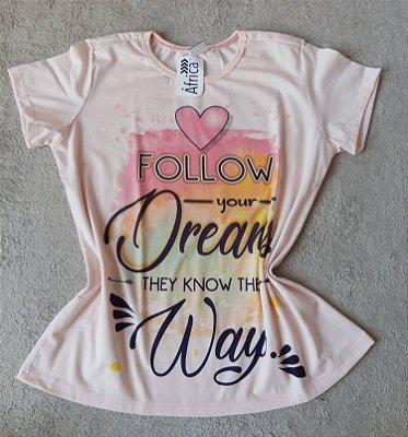 T-Shirt Feminina no Atacado Follow