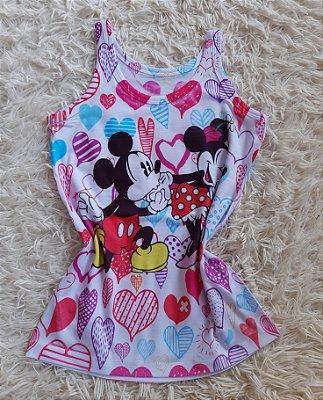 Regata Feminina Para Revenda Mickey e Minnie Corações