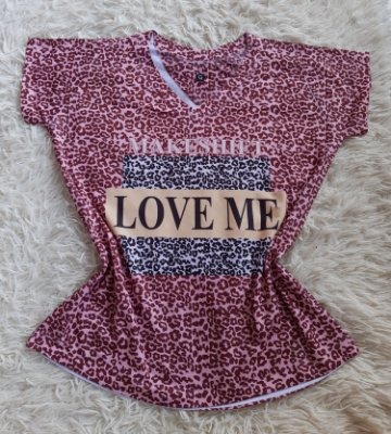 T Shirt Feminina no Atacado Love Me