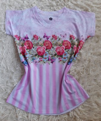 Blusinha Feminina Para Revenda Rosas