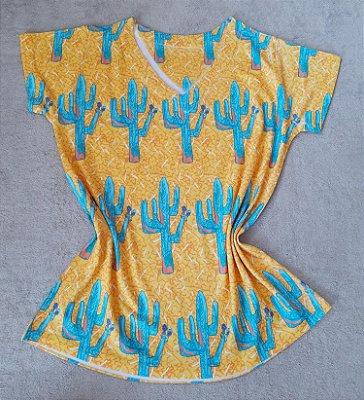 Tshirt Feminina no Atacado Cactos Grandes