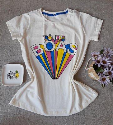 T-Shirt Feminina Para Revenda To de Boas