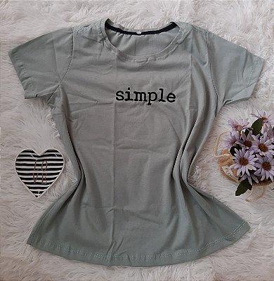 T-shirt Feminina no Atacado Simple