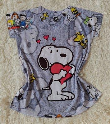 T-Shirt Feminina no Atacado Snoopy Coração