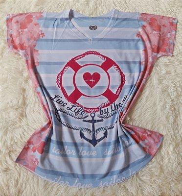 T-Shirt Feminina no Atacado Âncora Live Life