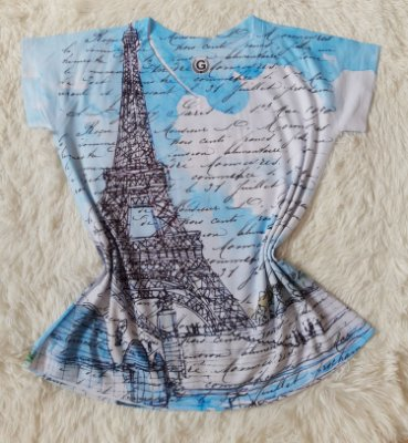 T-Shirt Feminina no Atacado Paris