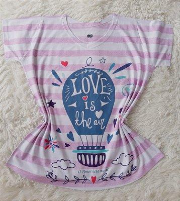 T-Shirt Feminina no Atacado Balão Love